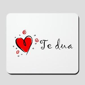 """""""I Love You"""" [Albanian1] Mousepad"""